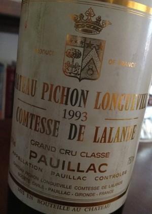Château Pichon Longueville Comtesse de Lalande '93