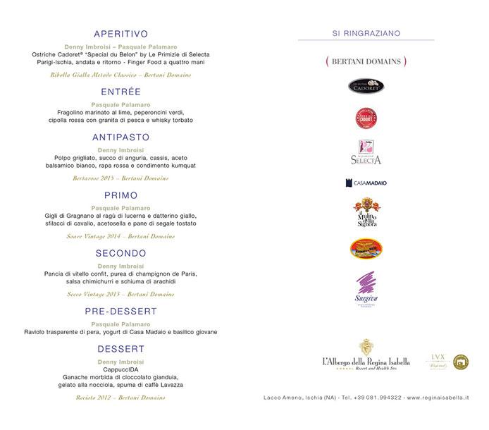 summer dinner luglio menu