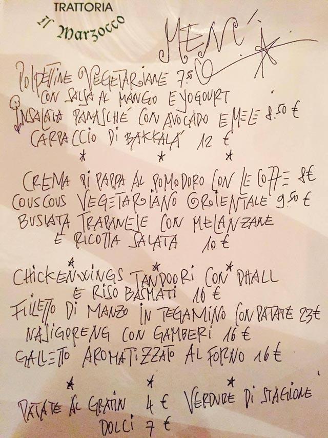 menu il marzocco pietrasanta