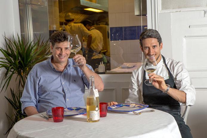 Stefano Chinappi e lo chef Federico Delmonte