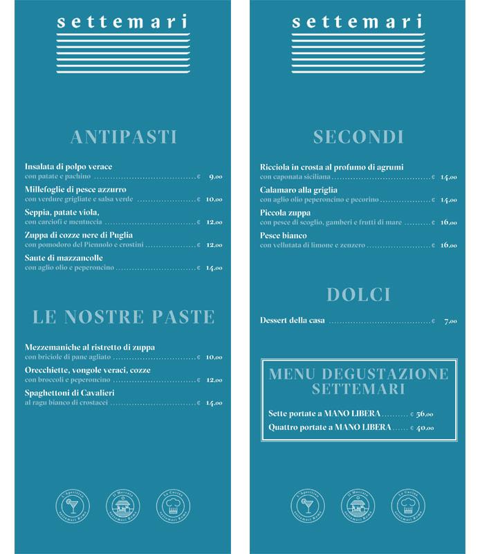 menu settemari roma
