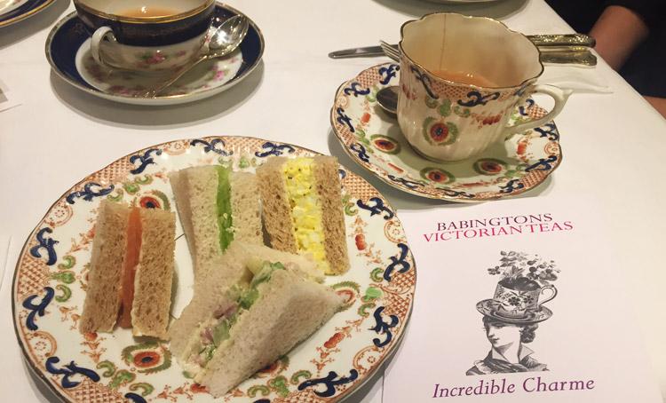 tè e sandwich da babingtons