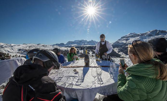 Alta Badia wine skisafari