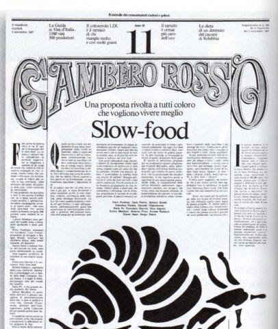 manifesto slow food gambero rosso