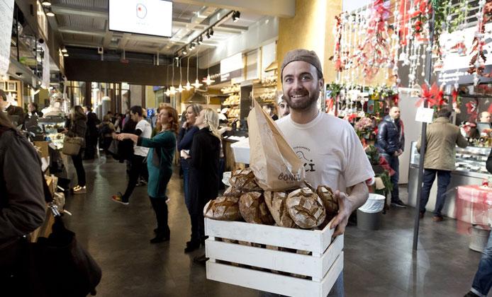 mercato centrale roma pane