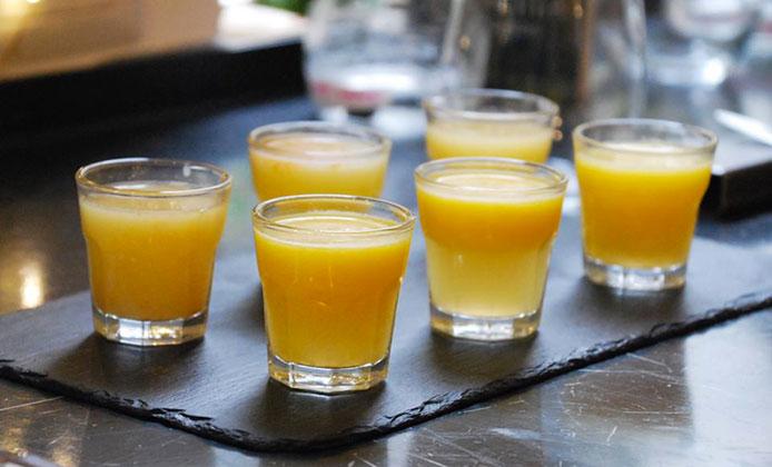 shot zenzero e arancia