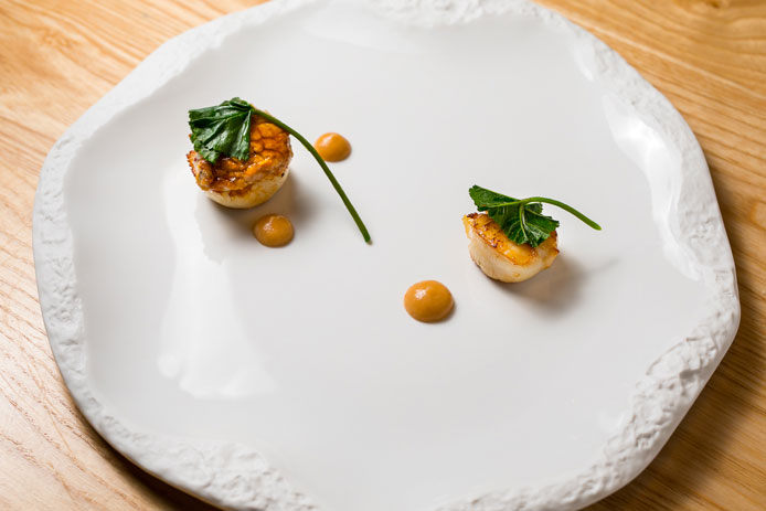 Dinner-Osteria-Fernanda Capasanta scottata