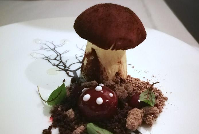 Fungo Mascarpone Ginepro e Cioccolato
