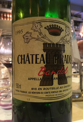 bandol 1995 Château Pradeaux