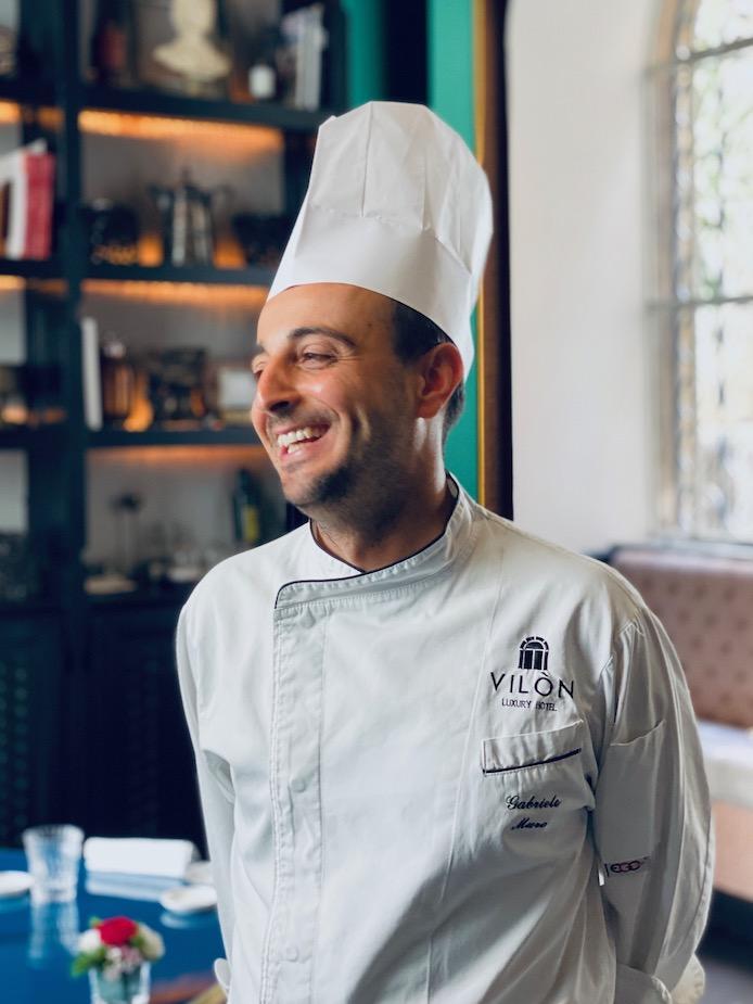 Gabriele Muro chef di Adelaide all'Hotel Vilòn